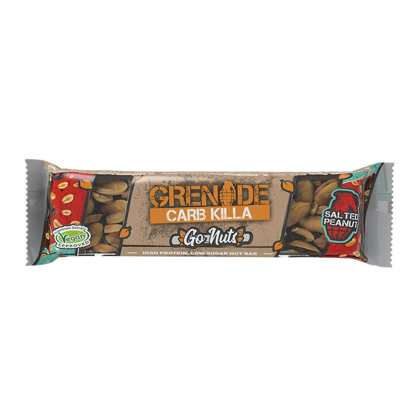 Grenade Carb Killa Go Nuts Vegan Salted Peanut x 15 review