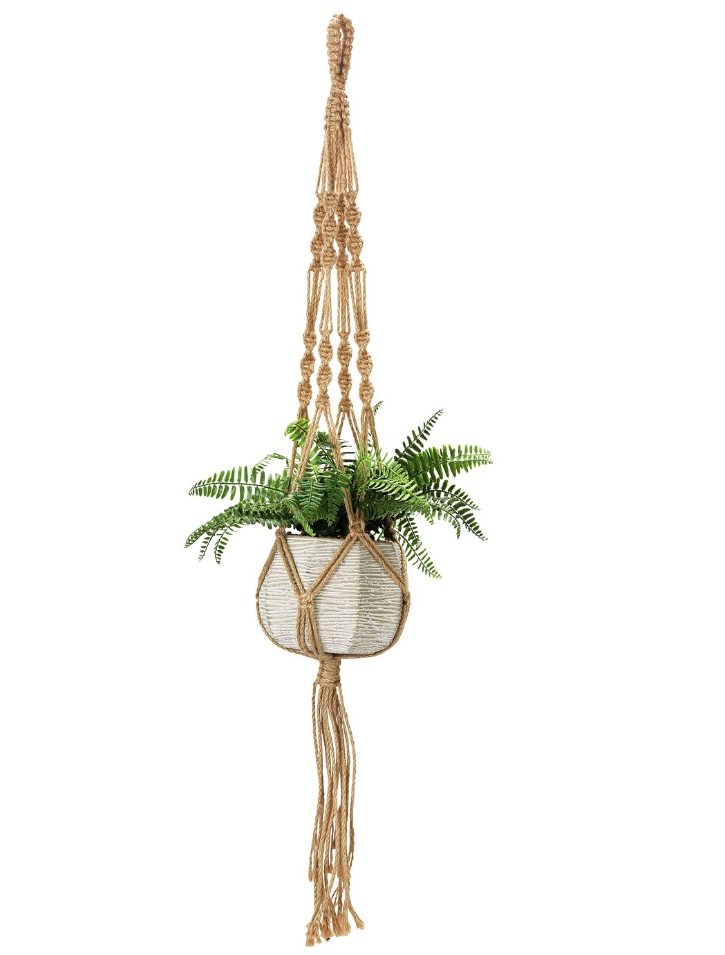Argos Home Faux Fern Hanging Basket in Cement Pot review