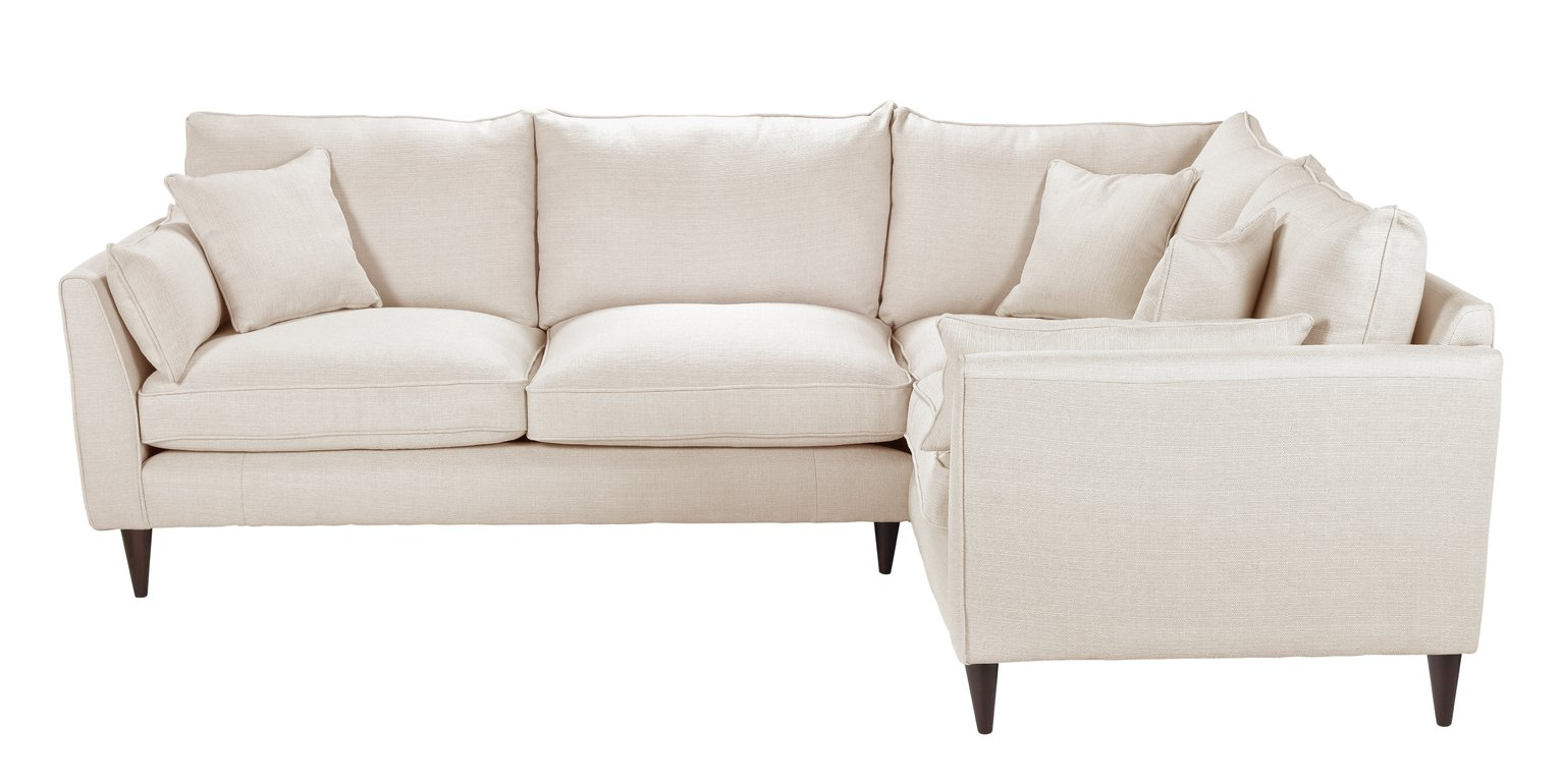 Argos Home Hector Right Corner Fabric Sofa - Natural Linen