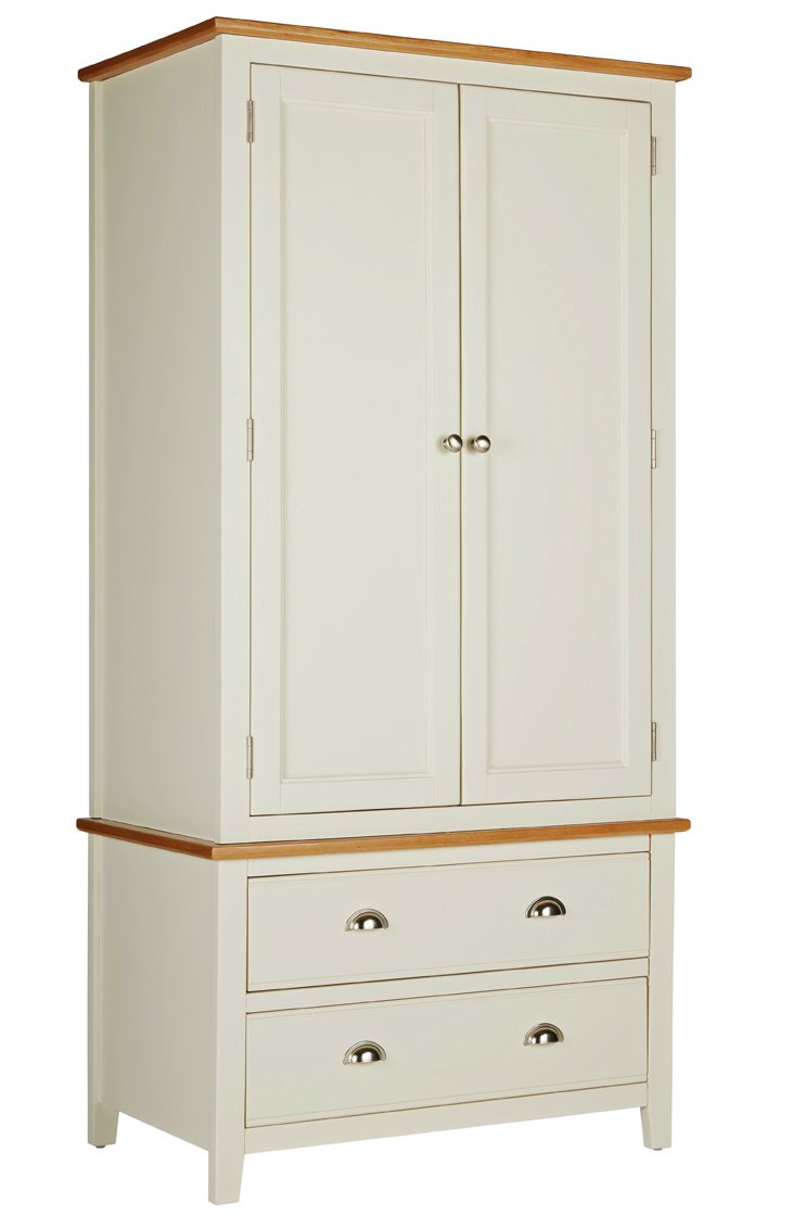 Argos Home Highbury 2 Door 2 Drawer Wardrobe - Oak & Cream