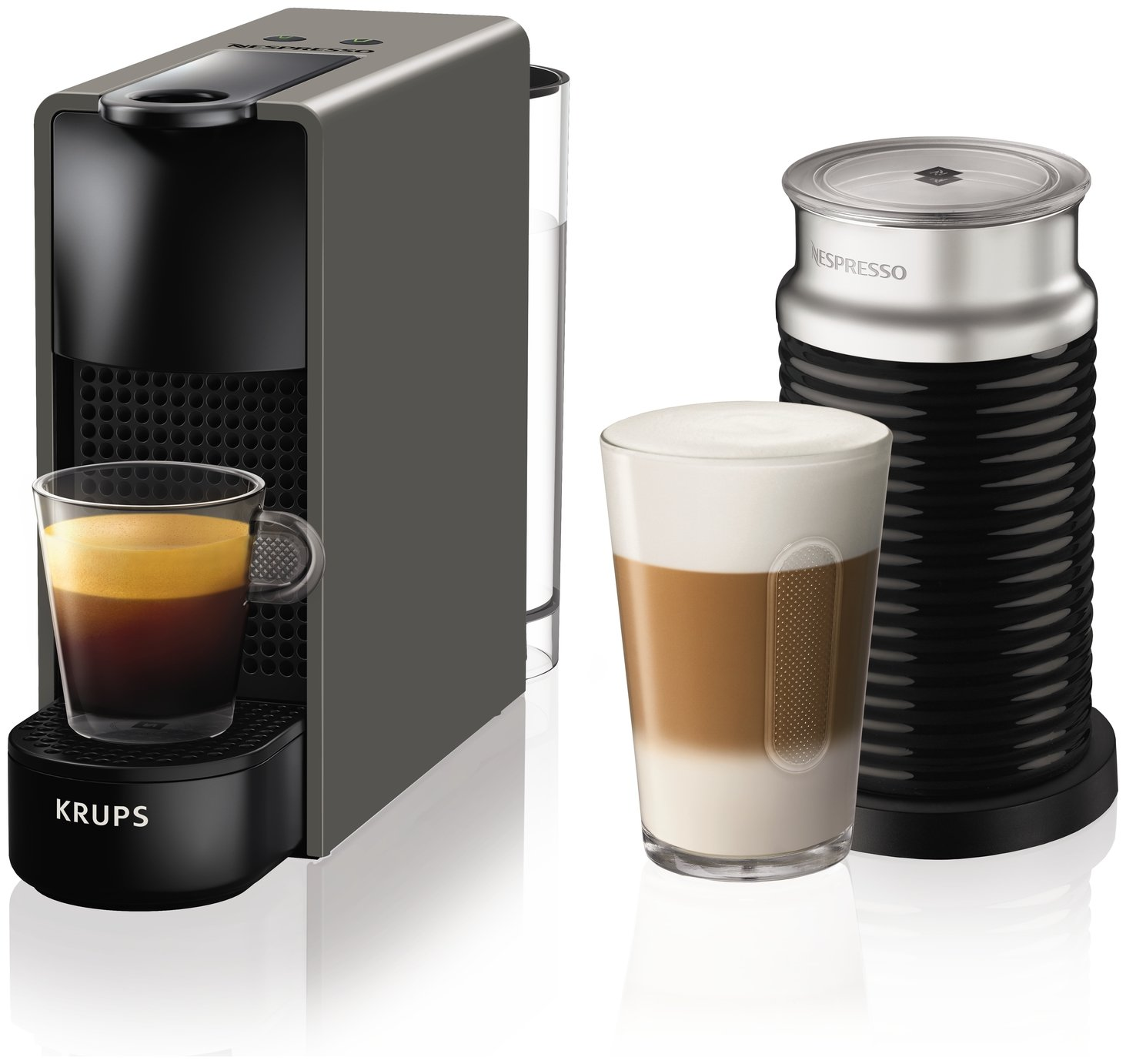 Nespresso by Krups Essenza Pod Coffee Machine Bundle - Grey