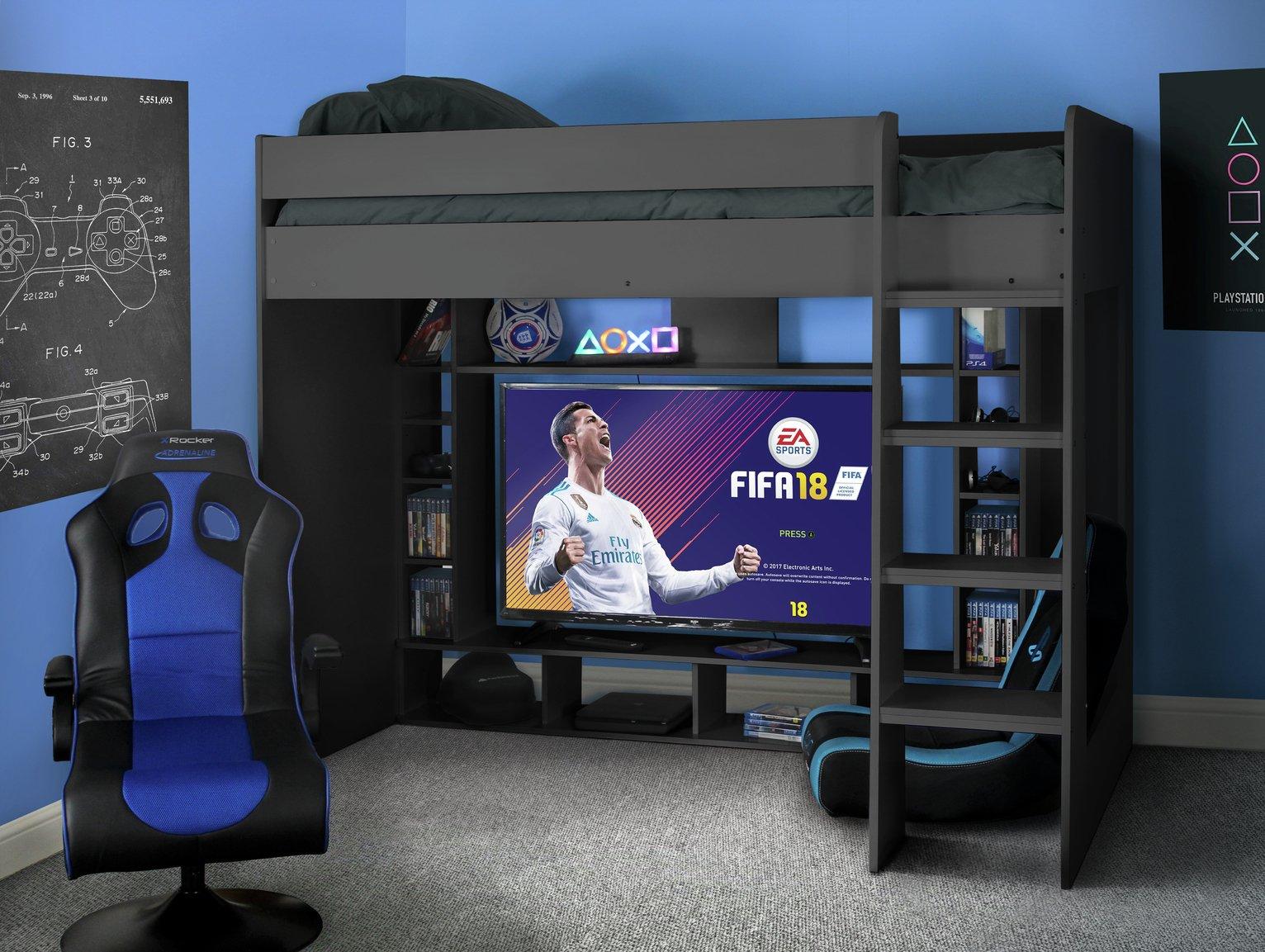 Argos Home Black Gaming High Sleeper & Kids Mattress