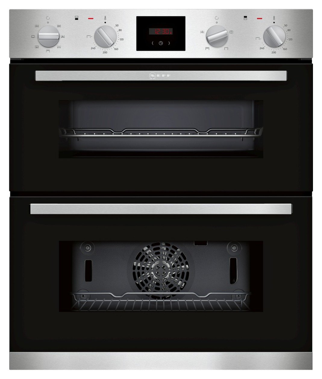 NEFF J1HCC0AN0B Built In Double Electric Oven - S/Steel
