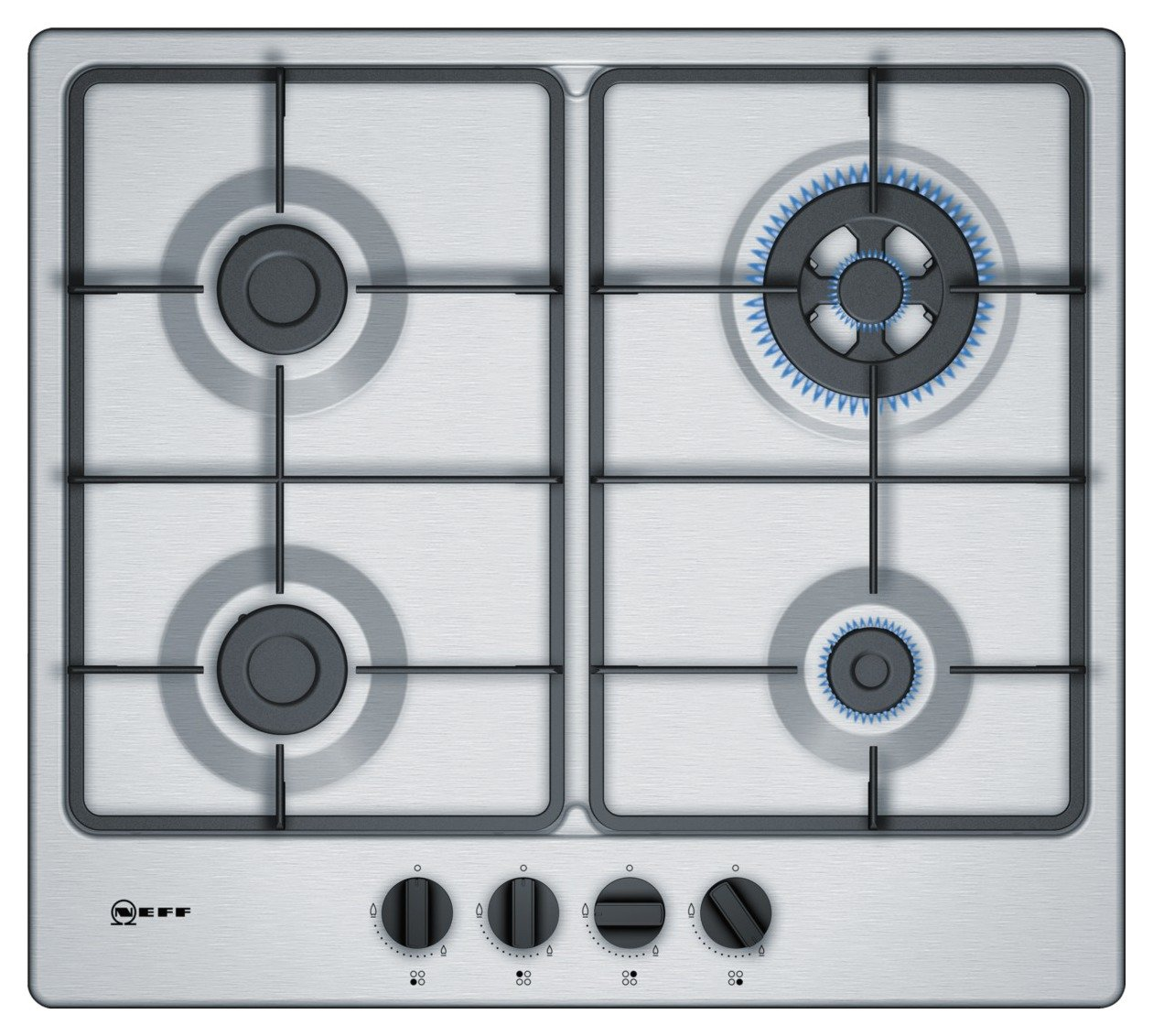 NEFF T26BB56N0 Gas Hob - Stainless Steel