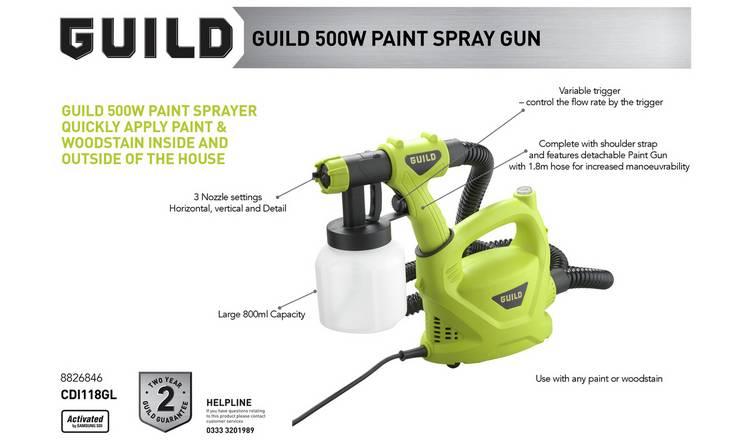 Buy Guild Paint Spray Gun 500w Paint Sprayers Argos