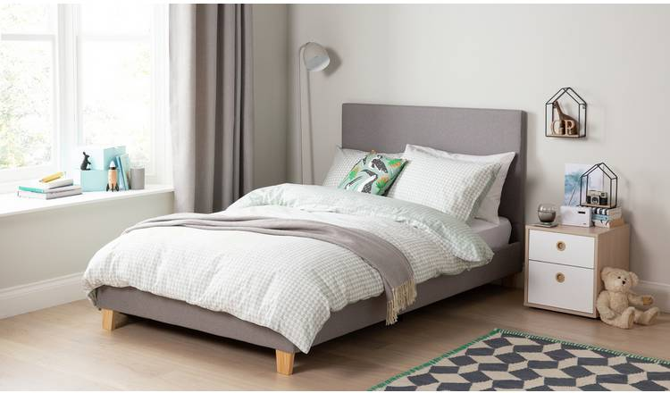ea311444af08 Argos Home Oliver Grey Small Double Bed in a Box & Mattress882/6970