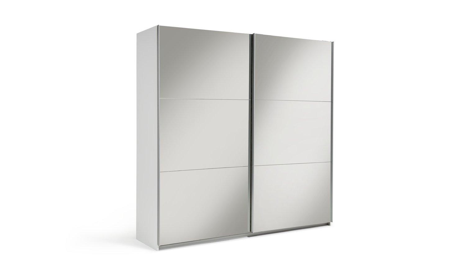 Argos Home Holsted Mirrored XL Sliding Wardrobe - White