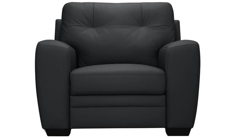 Argos Home Raphael Leather Mix Armchair - Black