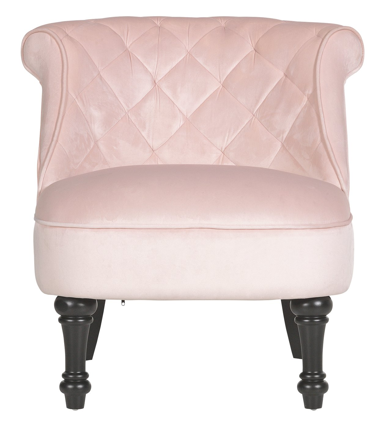 Argos Home Mika Quilted Velvet Accent Chair - Velvet Pink
