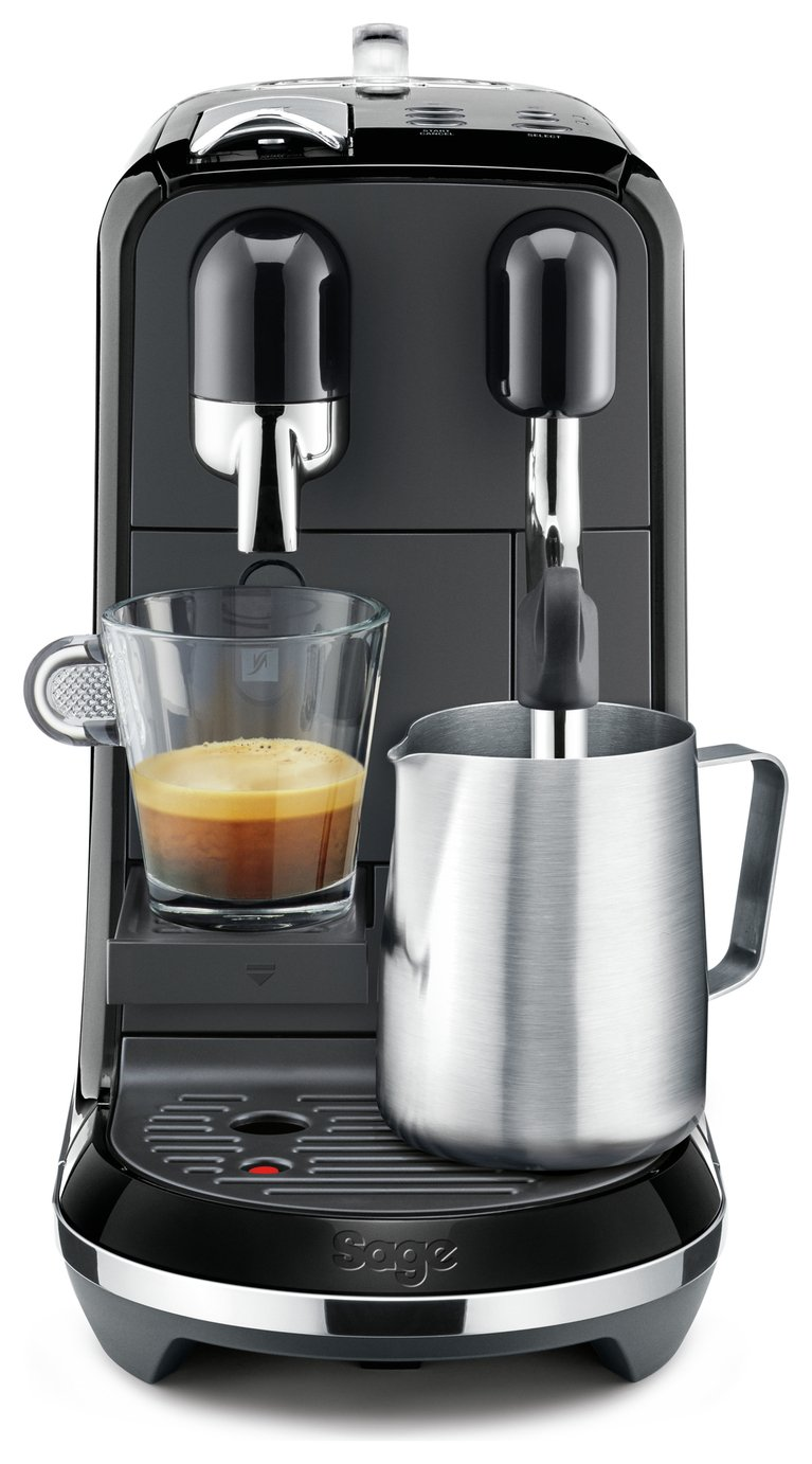Nespresso by Sage Creatista Uno Pod Coffee Machine - Black