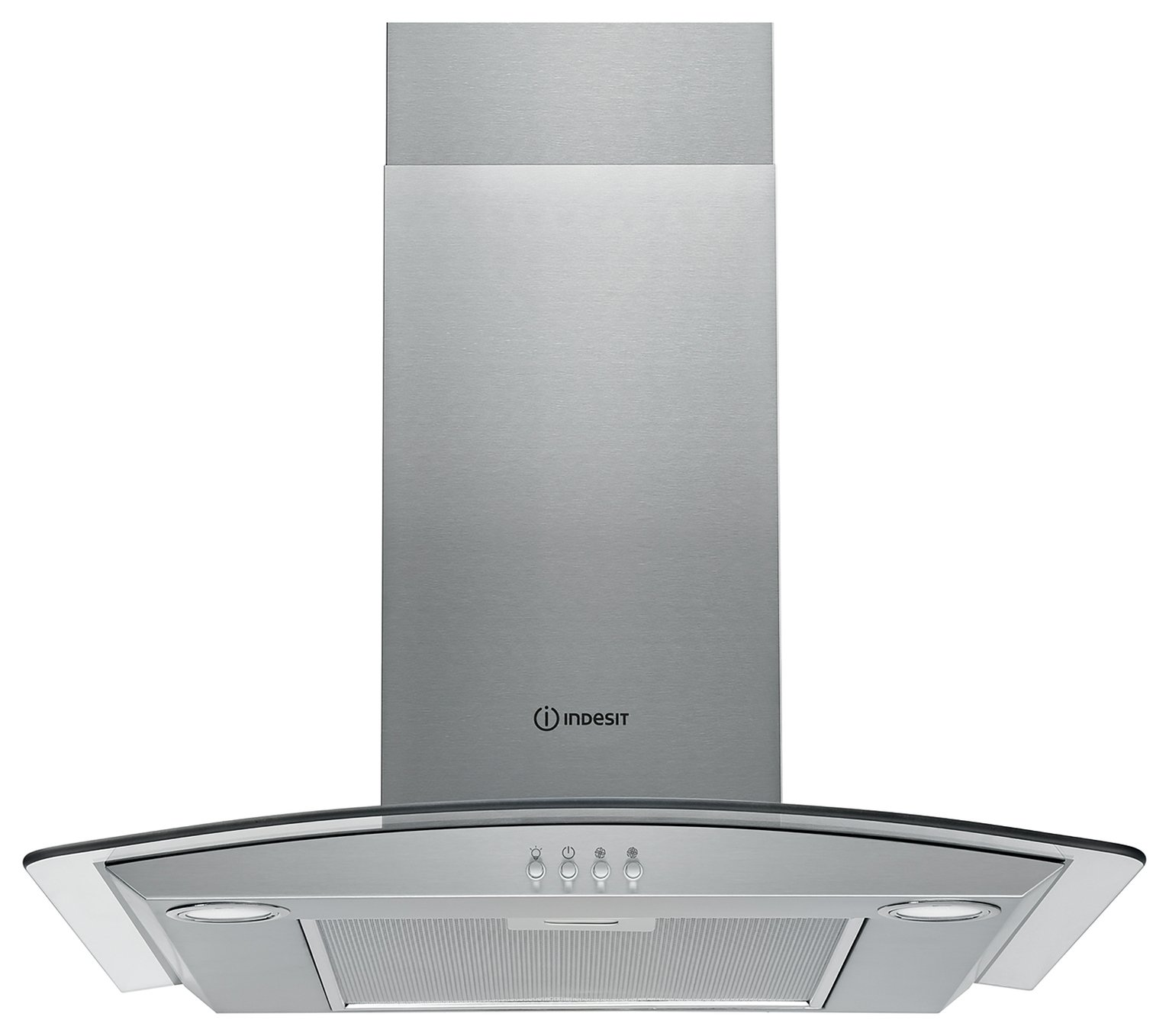 Indesit IHGC6.5LMX 60cm Cooker Hood - Stainless Steel