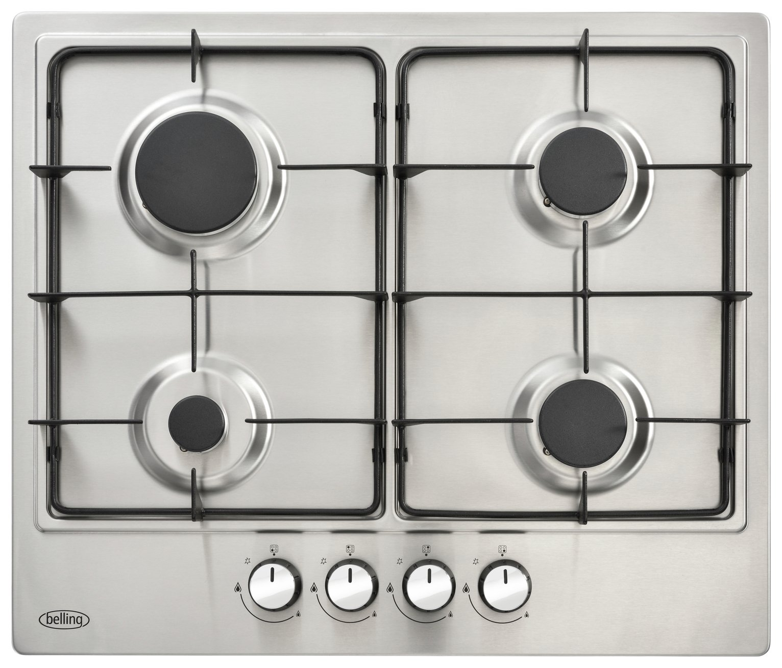 Belling GHU602GC Gas Hob - Stainless Steel