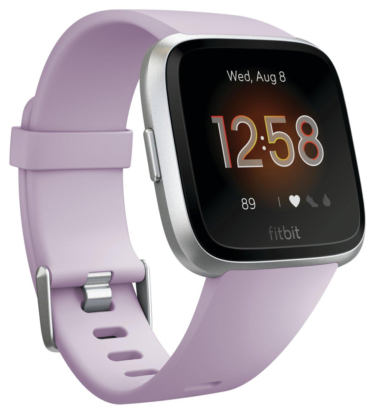 Fitbit Versa Lite Smart Watch - Lilac/ Silver