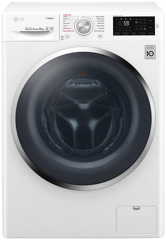LG F4J6VY2W 9KG 1400 Spin Washing Machine - White