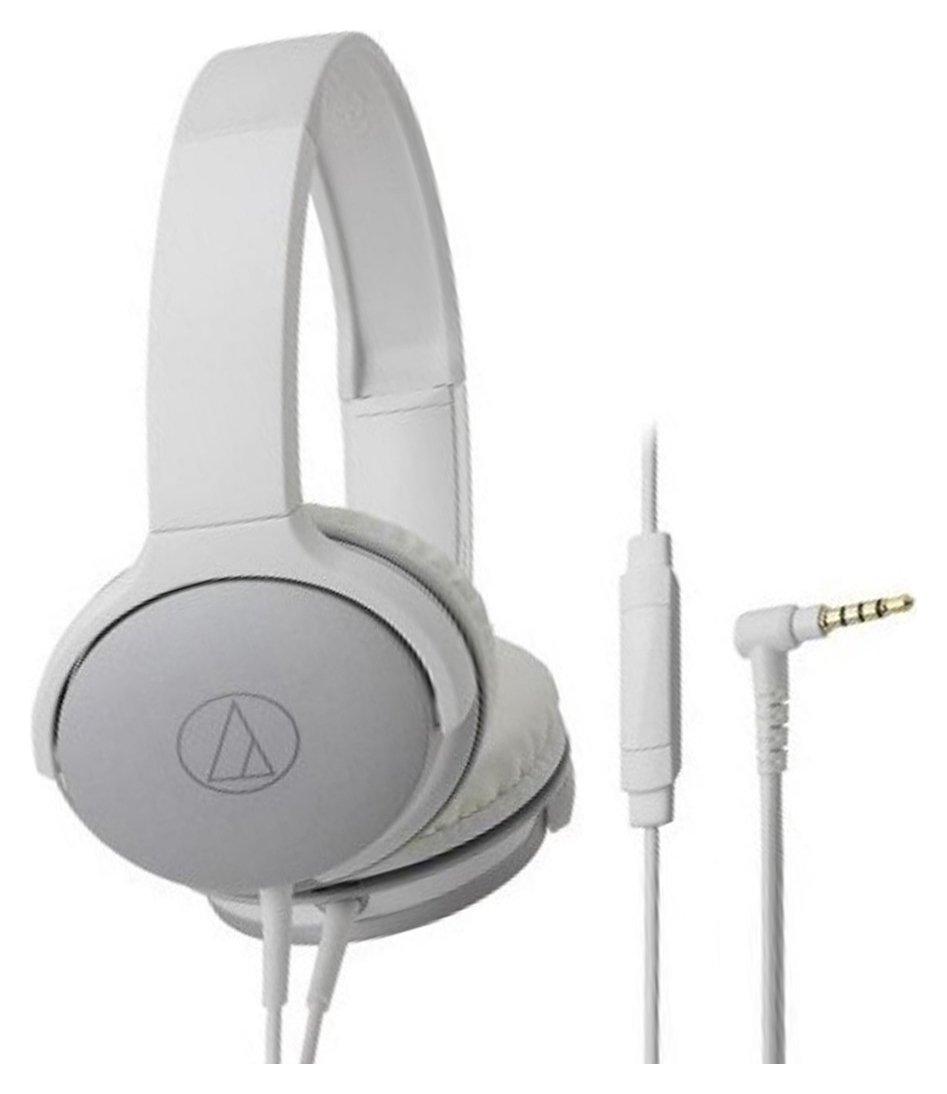 Audio Technica ATH-AR1iS On-Ear Headphones - White