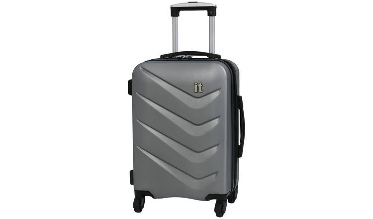 it Luggage Expandable 4 Wheel Hard Cabin Suitcase - Silver