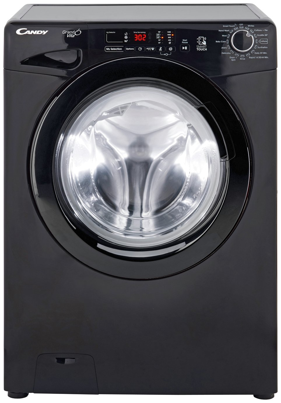 Candy GVS128D3B 8KG 1200 Spin Washing Machine - Black Best Price, Cheapest Prices