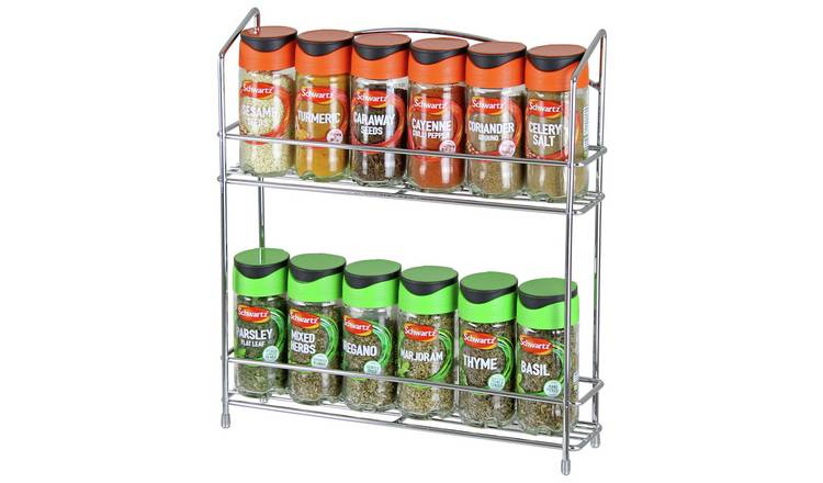Argos Home Wall Mountable 12 Jar Spice Rack