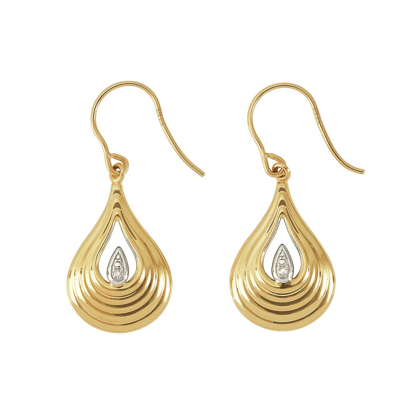 Revere 9ct Yellow Gold Drop Earrings