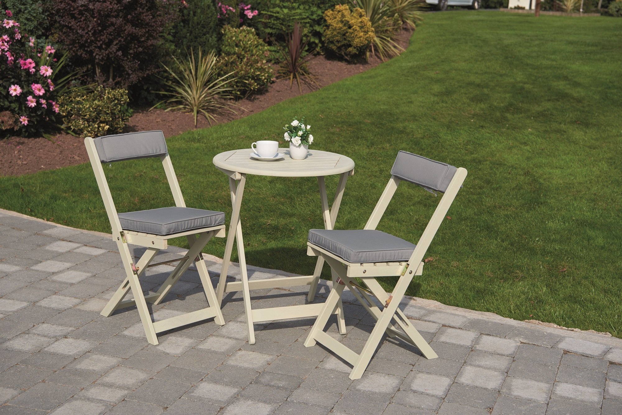 Greenhurst Raffles Bistro Set - Antique White