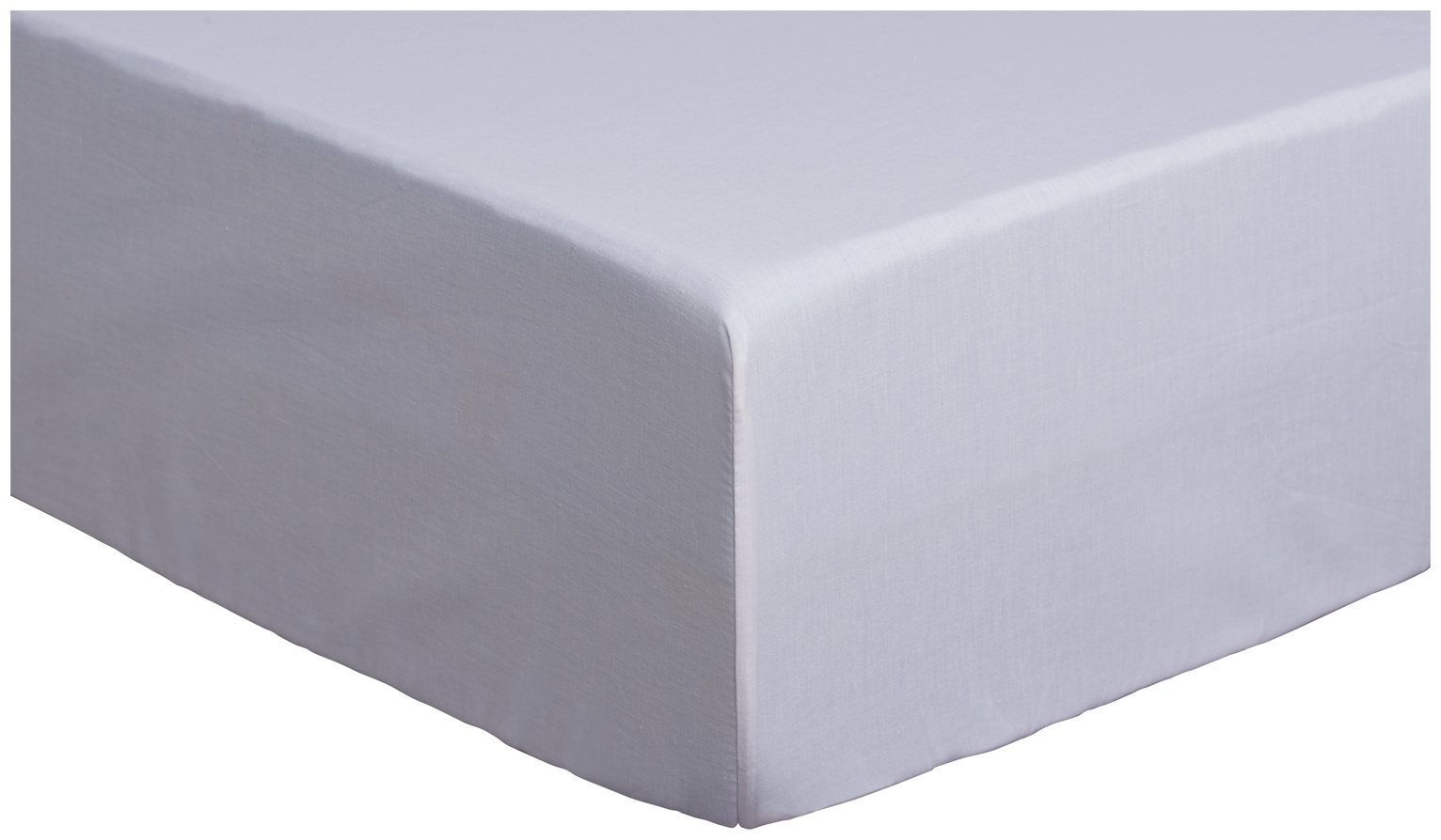 Argos Home Cool Cotton 28cm Fitted Sheet - Double
