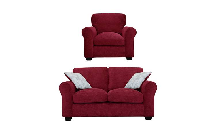 Buy Argos Home Tammy Fabric Chair and 2 Seater Sofa - Wine | Sofa sets |  Argos