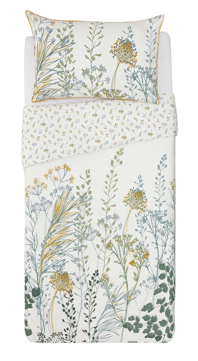Argos Home Floral Crop Printed Bedding Set - Single