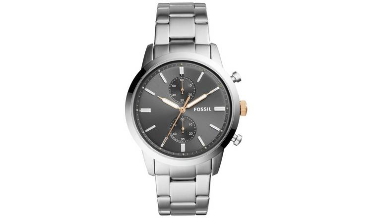Fossil Townsman Men's Silver Stainless Steel Bracelet Watch