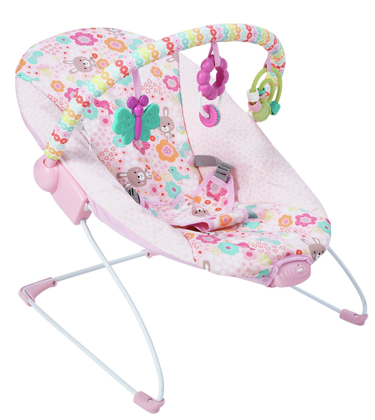 Chad Valley Princess Deluxe Baby Bouncer - Pink