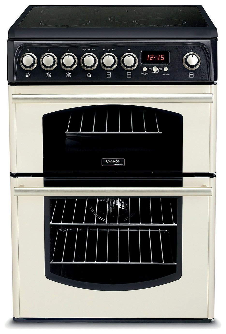 Hotpoint CH60ETC 60cm Double Oven Electric Cooker - Cream