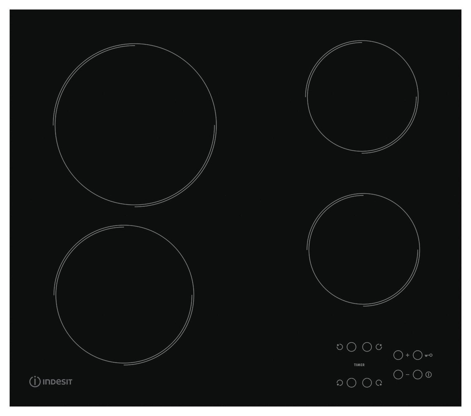 Indesit RI161C Ceramic Electric Hob - Black