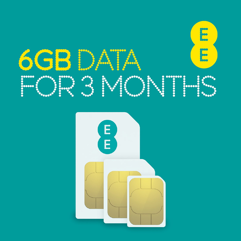 EE 6GB Pay As You Go Data SIM Card