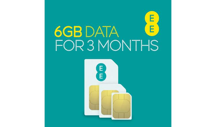 EE 6GB Pay As You Go Data SIM Card