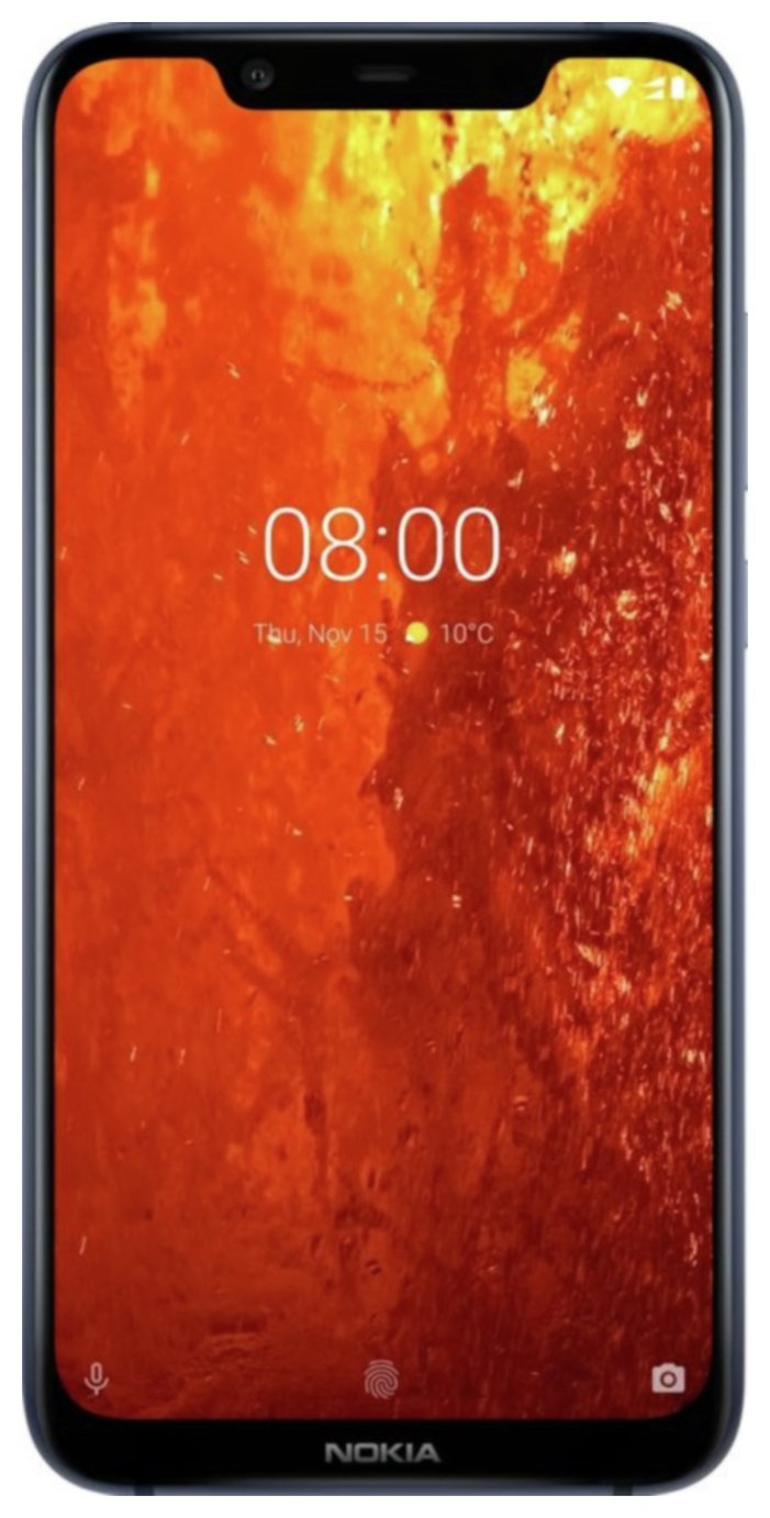 Nokia 8.1 64GB Smartphone, Steel Best Price and Cheapest