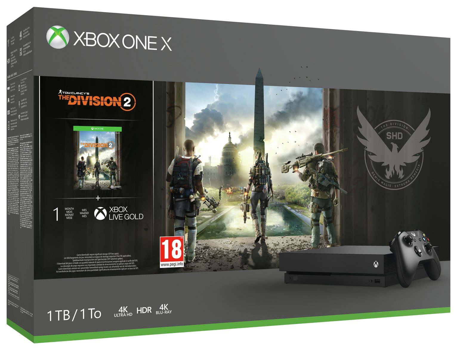 Xbox One X 1TB Console & The Division 2 Bundle