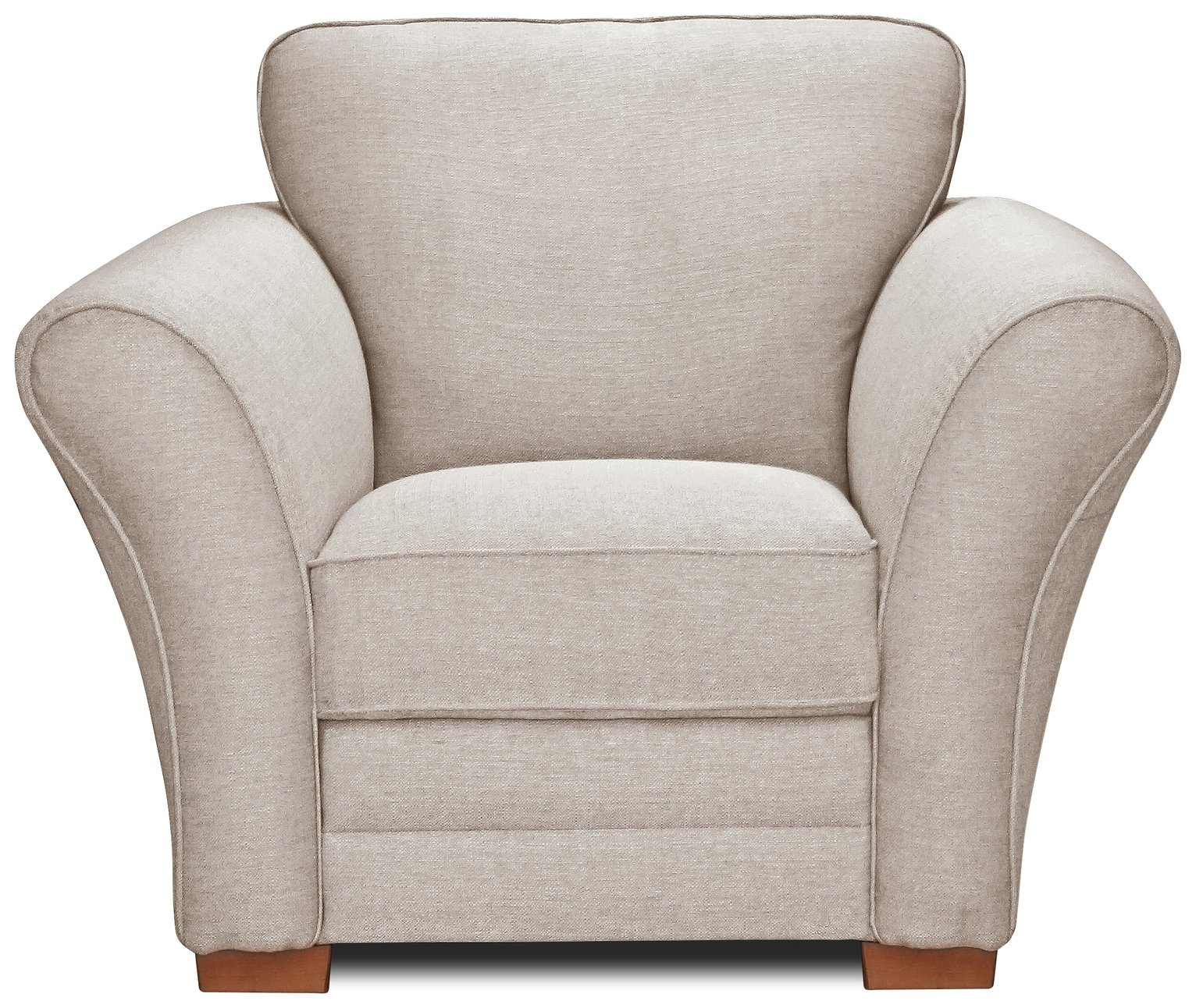Argos Home New Thornton Fabric Armchair - Natural
