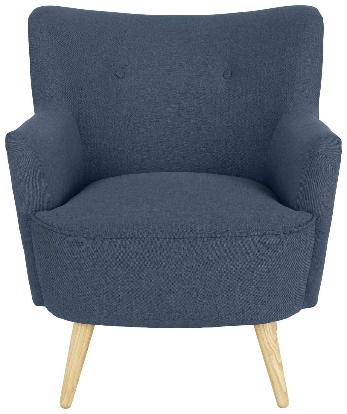 Habitat Franze Fabric Armchair - Denim Blue