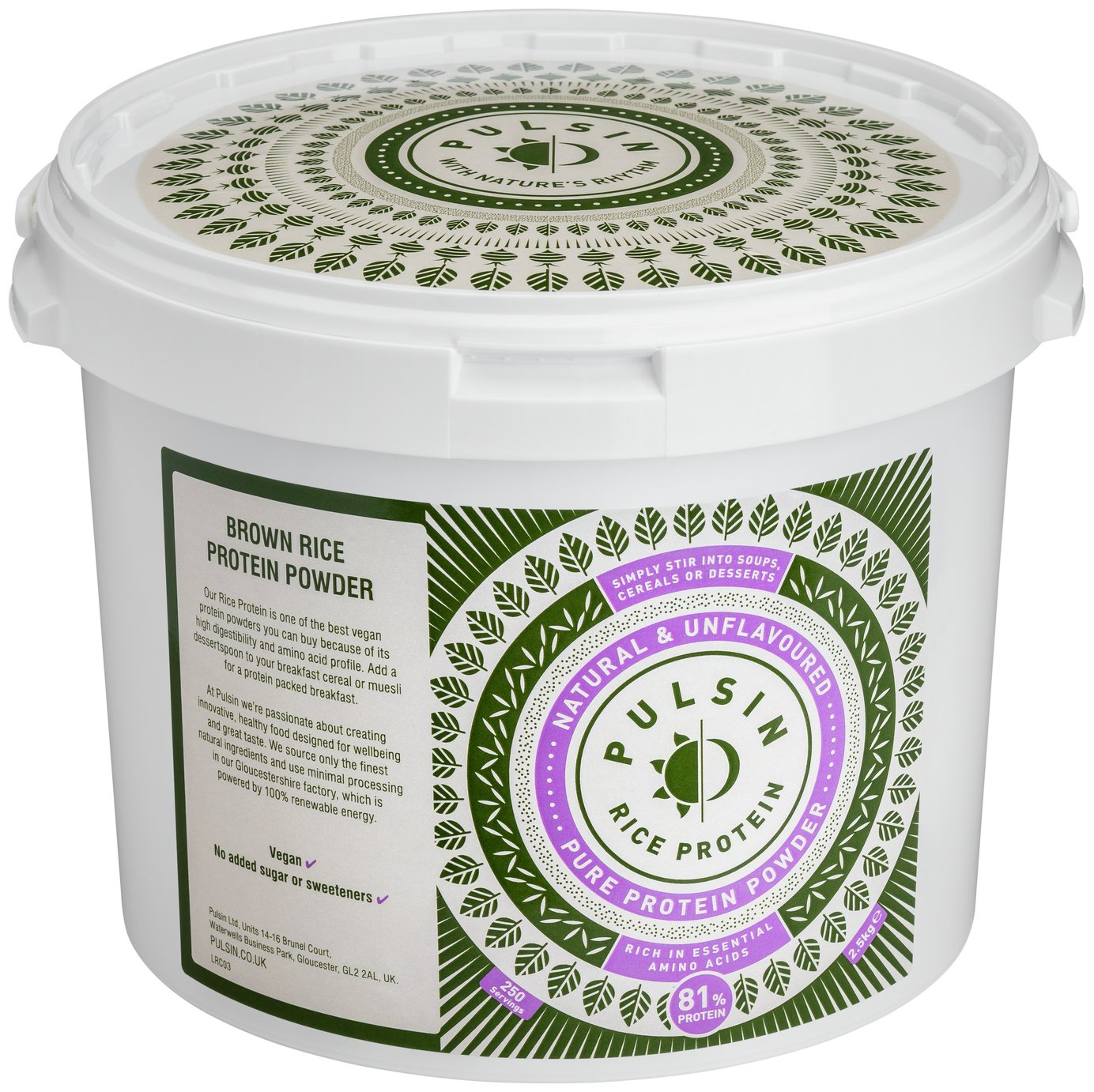 Pulsin Rice Protein Powder
