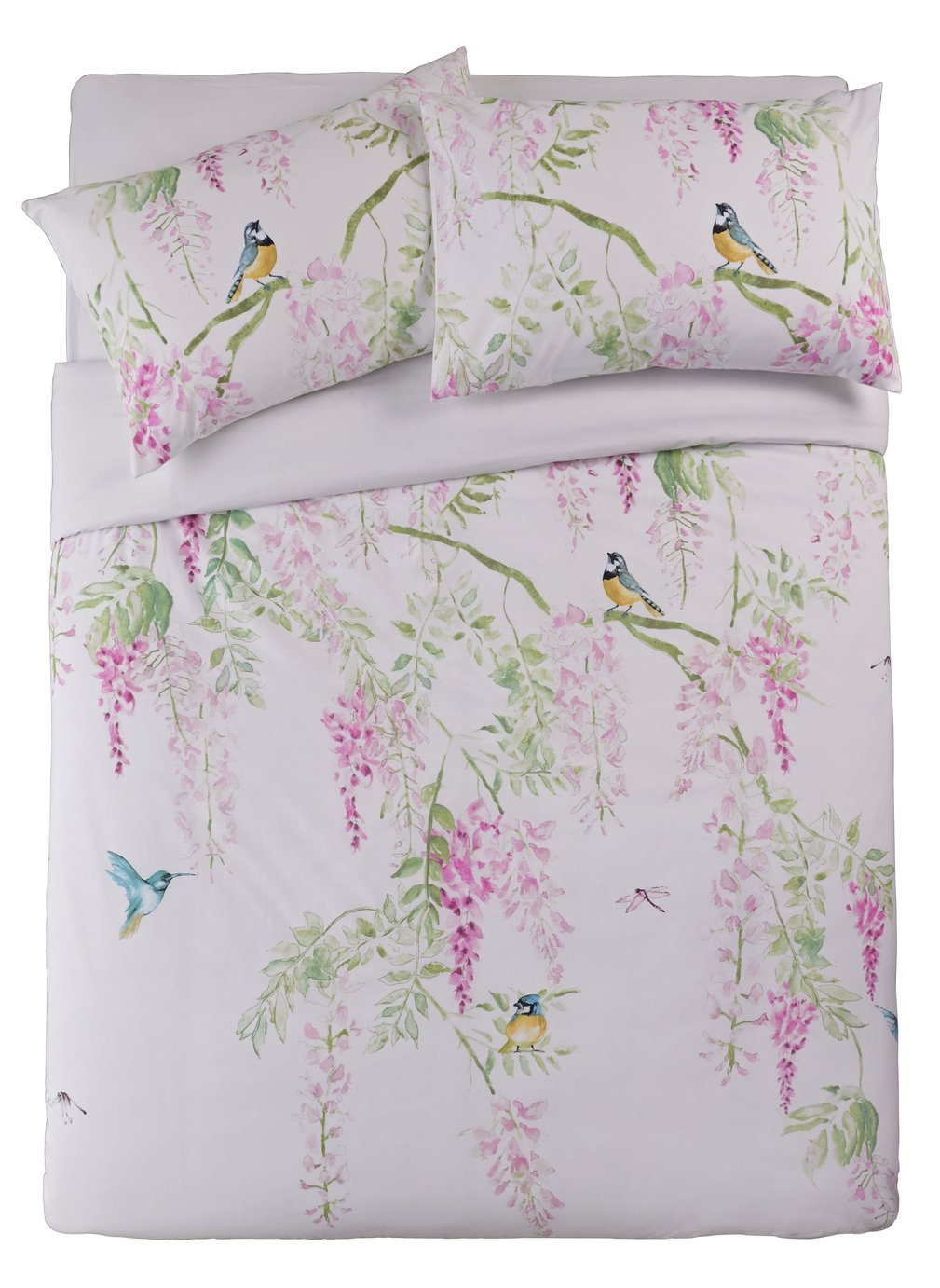 Argos Home Blue Tit Printed Bedding Set - Double