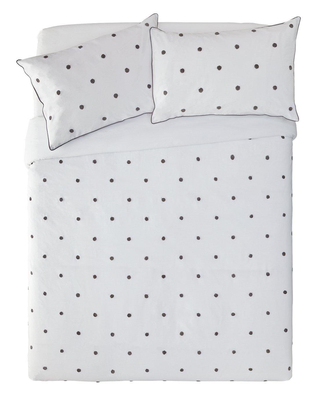 Argos Home Grey Spot Tufted Bedding Set - Double