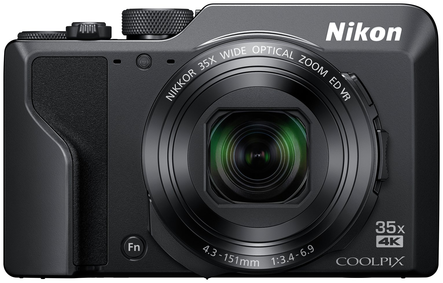 Nikon Coolpix A1000 16MP 35x Zoom Bridge Camera - Black