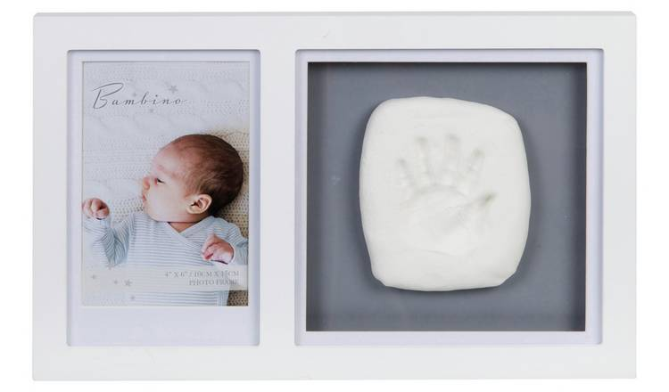 Bambino White Photo Frame & Hand Mould