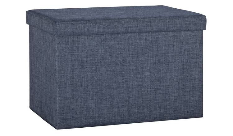 Phenomenal Buy Argos Home Linen Ottoman Navy Ottomans Argos Machost Co Dining Chair Design Ideas Machostcouk