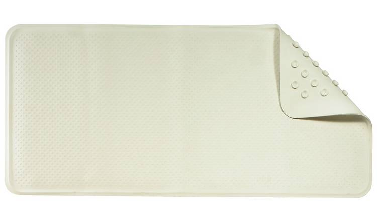 Croydex Anti-Bacterial Rubber Bath Mat - Cream
