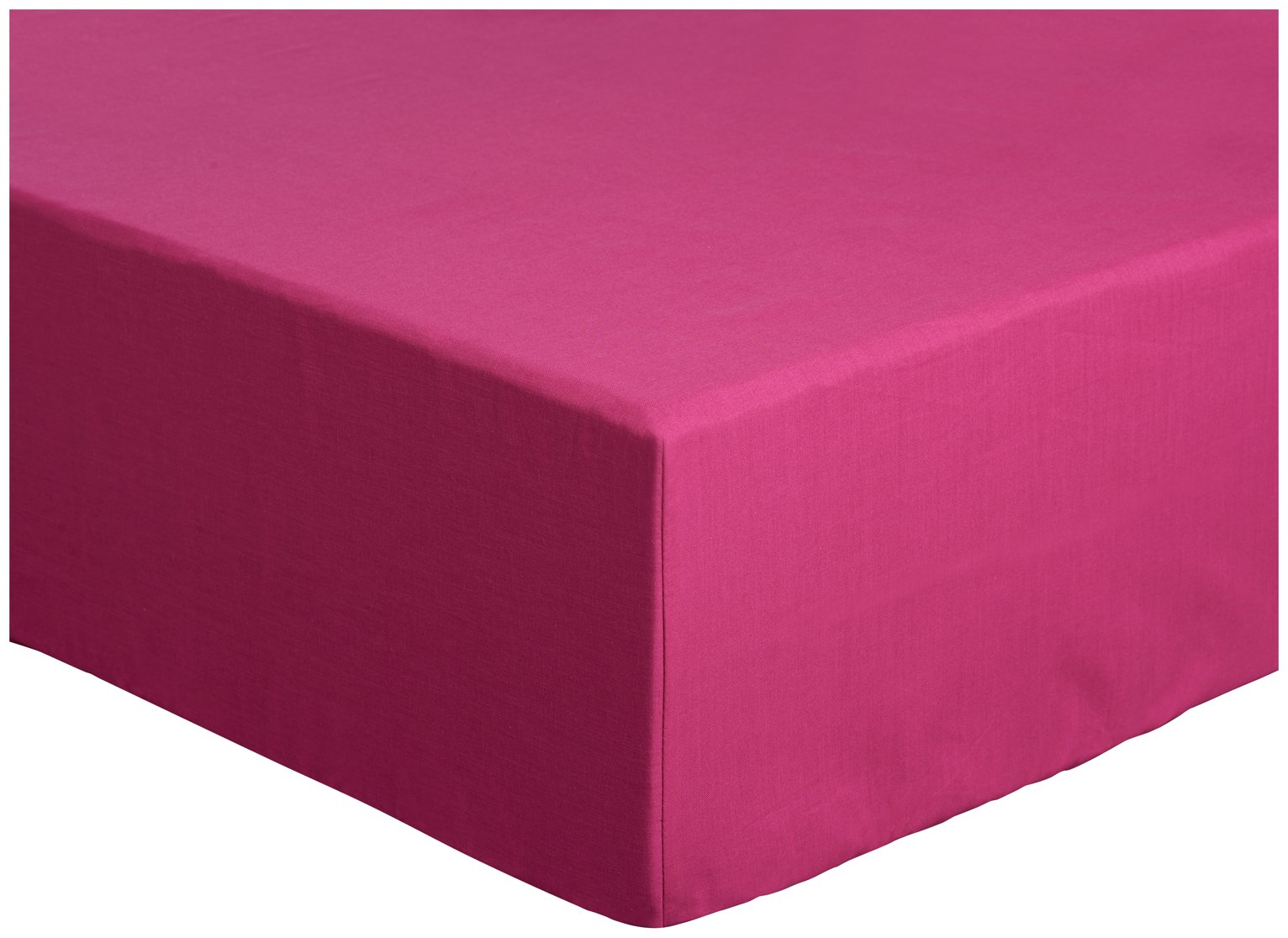 Argos Home Easycare Polycotton 28cm Fitted Sheet - Single