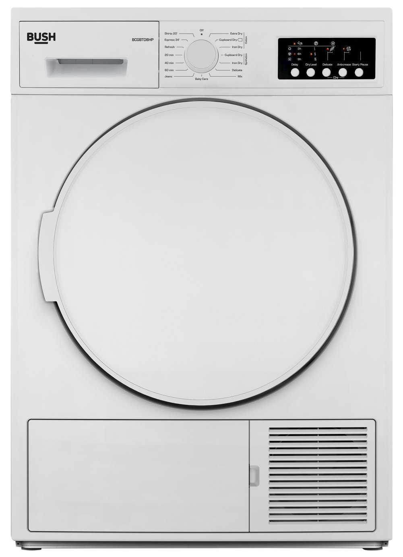 Bush BCGBTD8HP 8KG Heat Pump Tumble Dryer - White