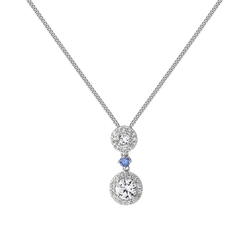 Revere Silver Halo Drop Pendant Necklace  Pendant Necklace