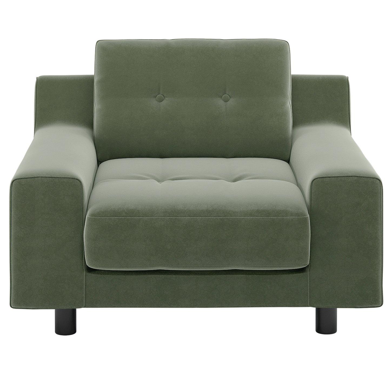 Habitat Hendricks Sage Green Velvet Armchair