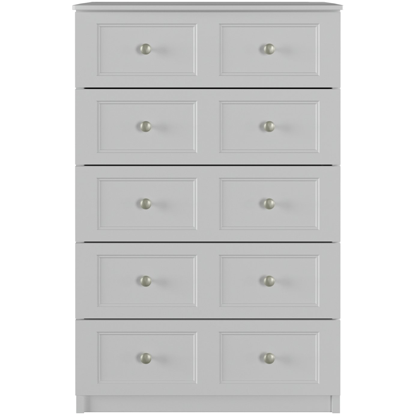 One Call Bexley 5 Drawer Chest of Drawers - Grey