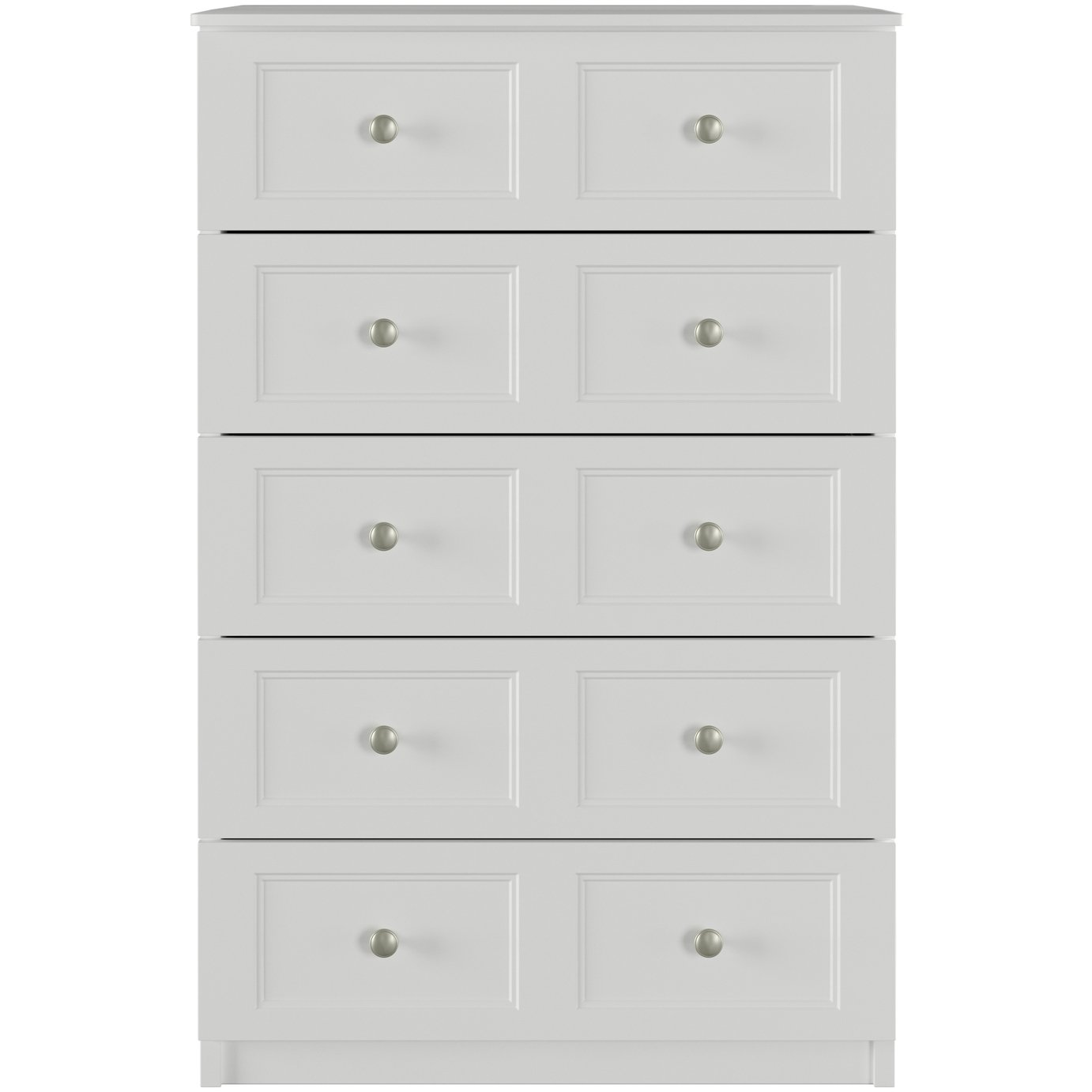 One Call Bexley 5 Drawer Chest of Drawers - White